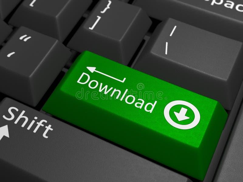 Llave de la transferencia directa en el teclado imagenes de archivo