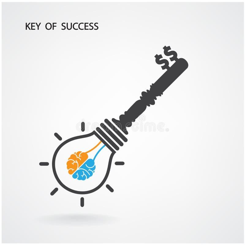 Llave del éxito, ideas del negocio libre illustration