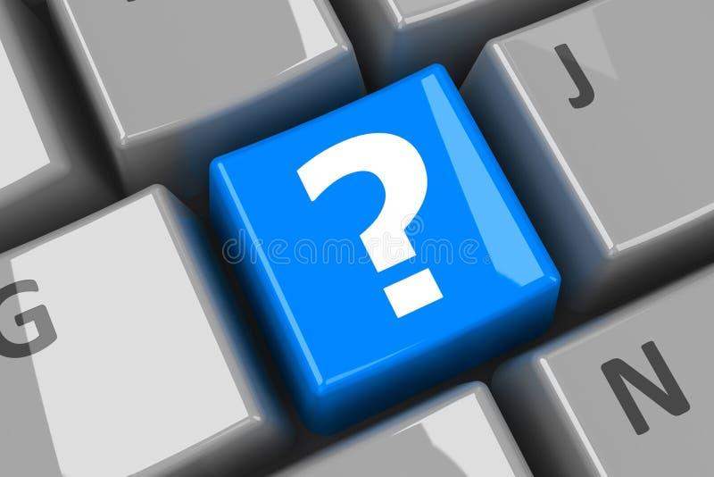 Llave del azul de la pregunta del teclado libre illustration