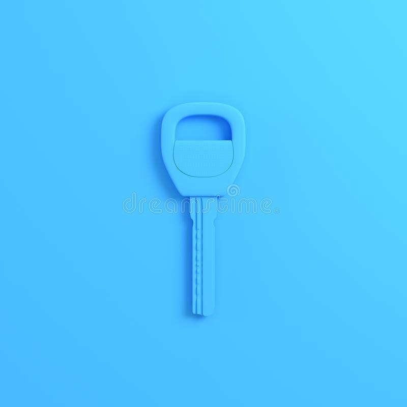 Llave del hogar o del coche en fondo azul brillante ilustración del vector