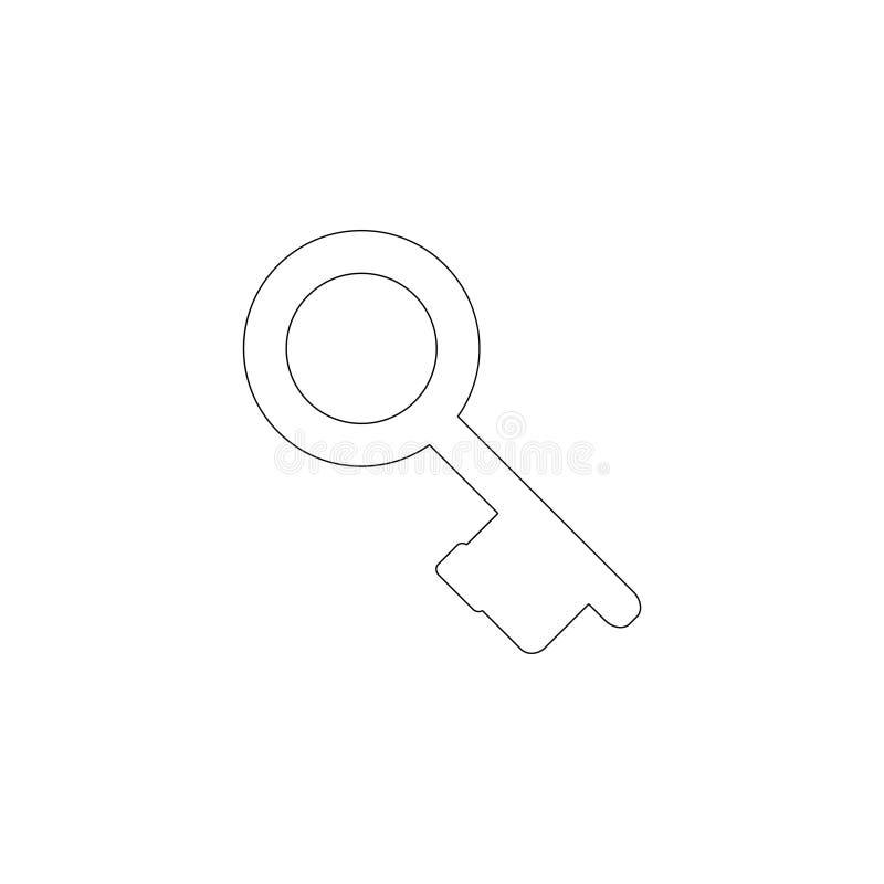 Llave del vintage Icono plano del vector stock de ilustración