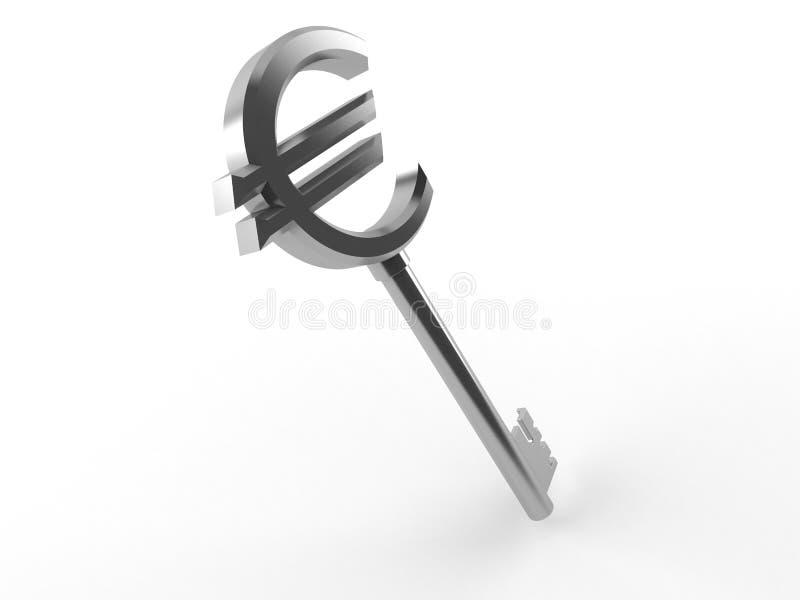 Llave euro stock de ilustración