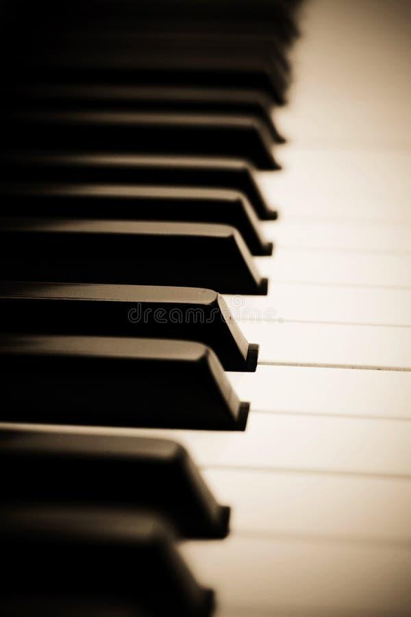 Llaves del piano imagen de archivo