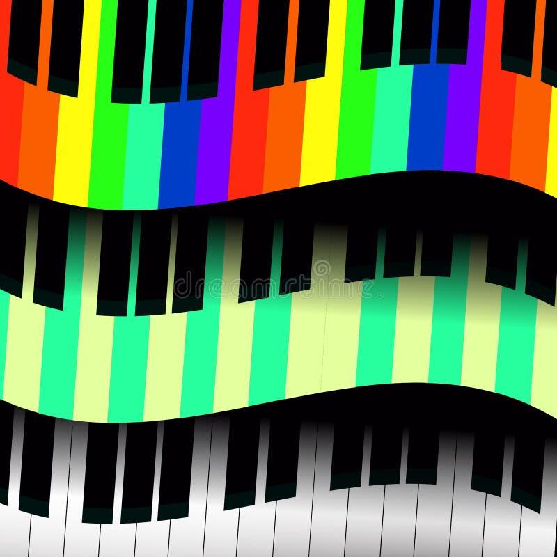 Llaves del piano bajo la forma de ondas libre illustration