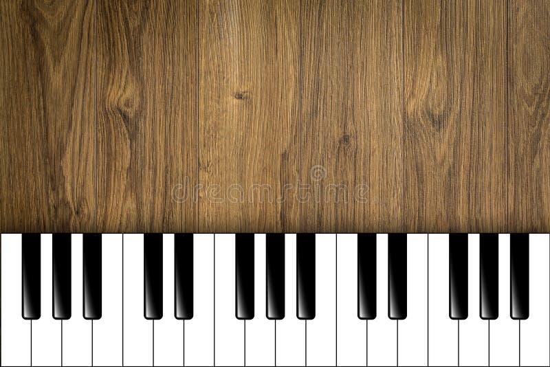 Llaves del piano en fondo de madera libre illustration