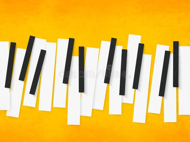 Llaves del piano para la música libre illustration