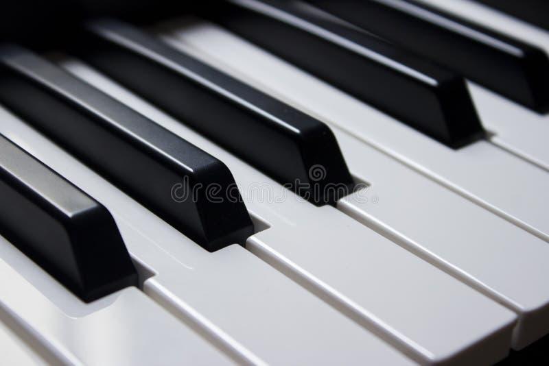 Llaves del piano del primer fotografía de archivo