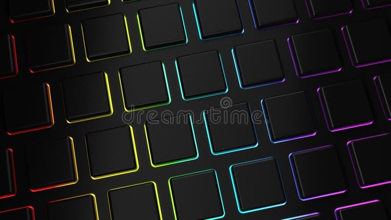 Llaves en blanco negras del RGB en un teclado de ordenador libre illustration