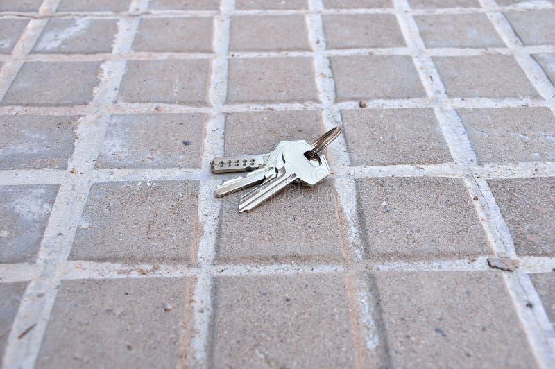 Llaves perdidas del hogar foto de archivo