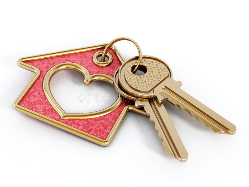 Llaves y colgante de la casa stock de ilustraci n - La llave del hogar ...