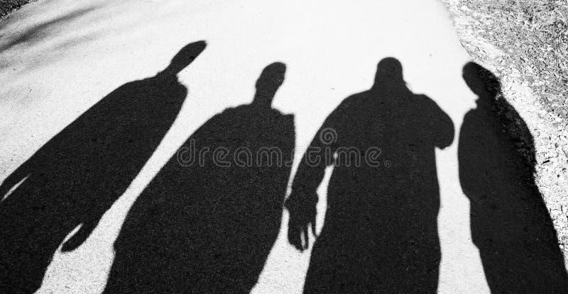 Lle ombre di quattro genti immagini stock libere da diritti
