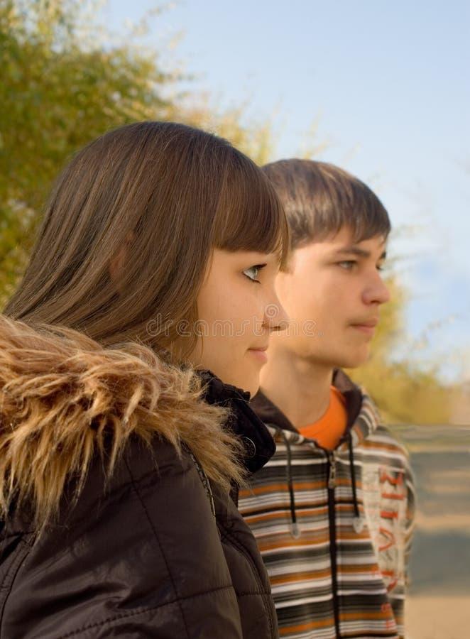Lle persone di due adolescenti fotografia stock libera da diritti