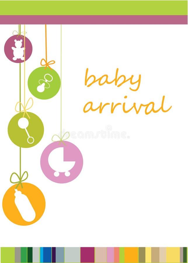 Llegada del bebé stock de ilustración