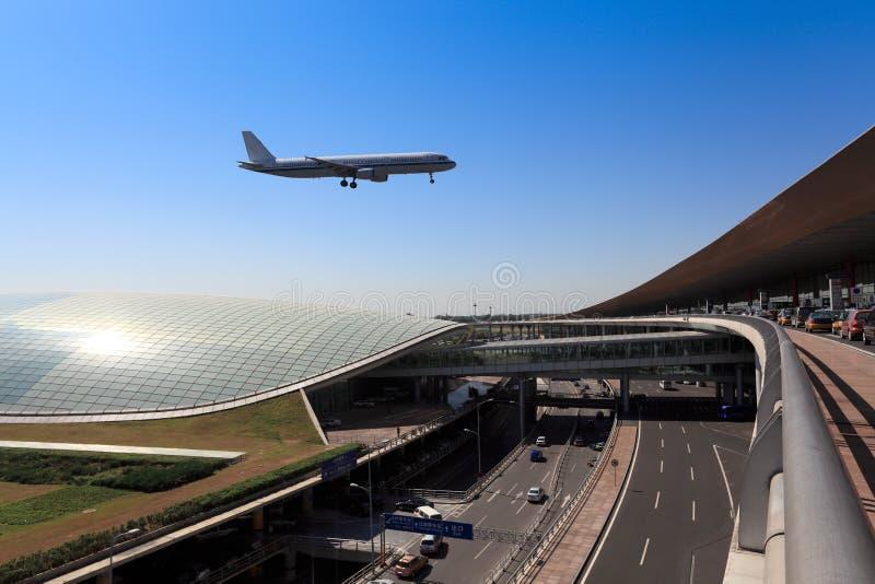 Llegada del vuelo en el T3 de Pekín imagen de archivo libre de regalías