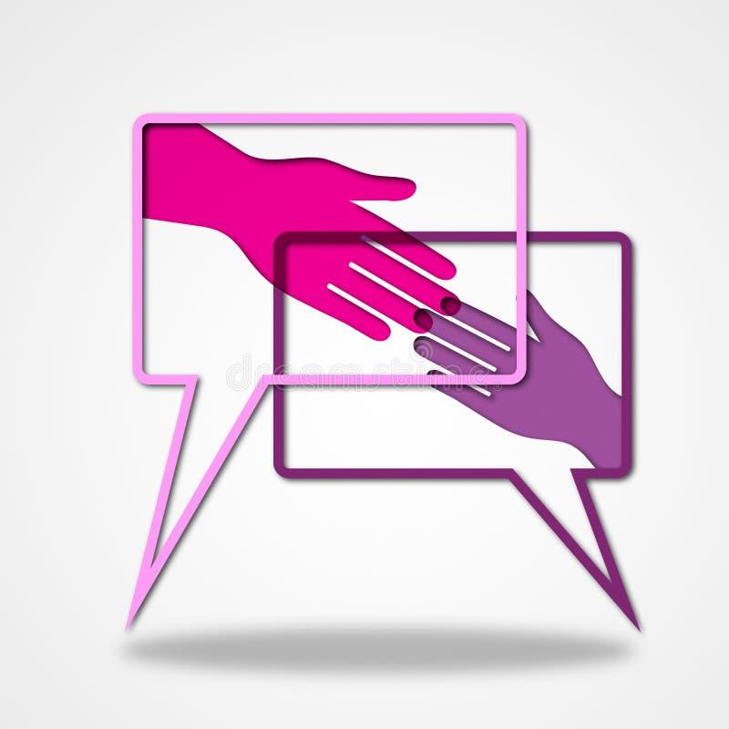 Llevar a cabo las manos indica todo derecho y aceptable ilustración del vector