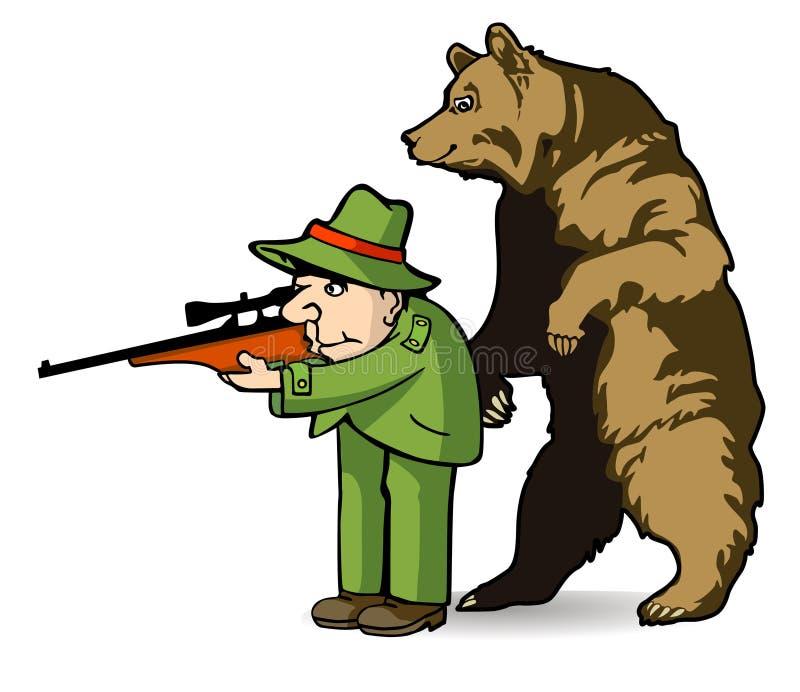 Lleve al cazador stock de ilustración