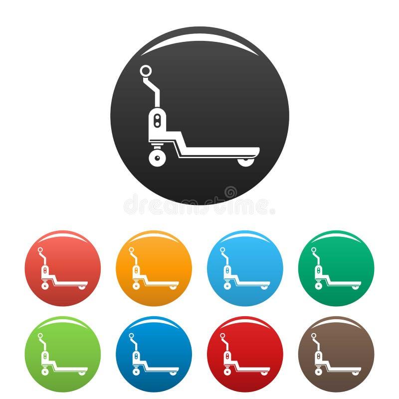 Lleve el color del sistema de los iconos de la plataforma libre illustration