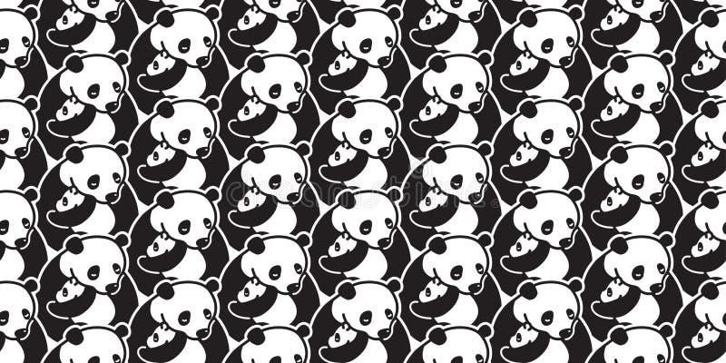 Lleve el garabato aislado inconsútil de la historieta del ejemplo del papel pintado del fondo del oso polar de la panda del vecto ilustración del vector