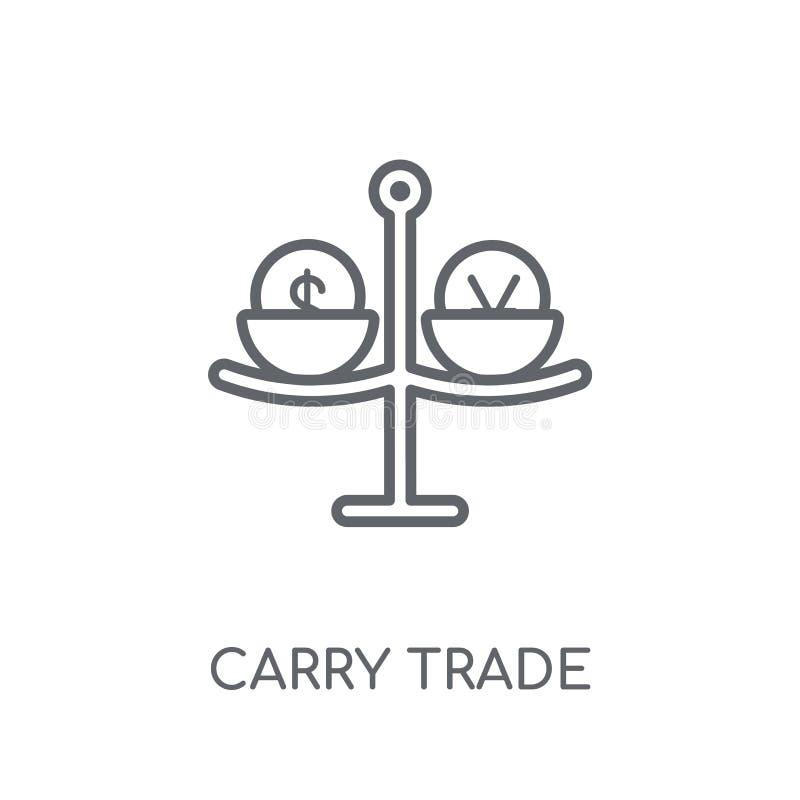 Lleve el icono linear comercial El esquema moderno lleva el concepto comercial del logotipo stock de ilustración