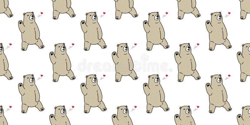 Lleve el papel pintado aislado tarjeta del día de San Valentín inconsútil del fondo del peluche del corazón de la panda del oso p libre illustration