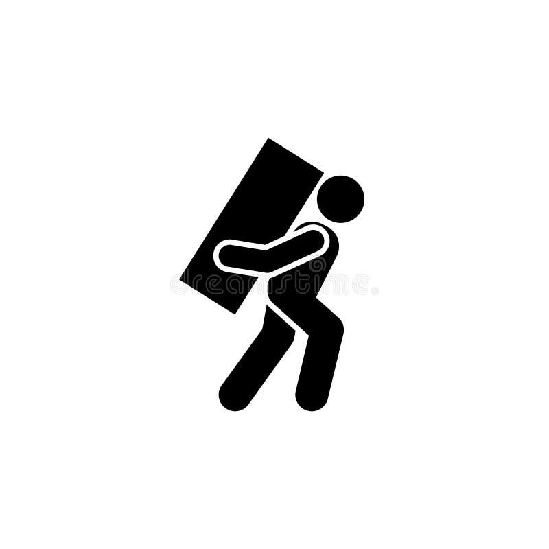 Lleve, pesado, hombre, icono móvil Elemento del icono de los trabajadores Icono superior del dise?o gr?fico de la calidad Muestra libre illustration