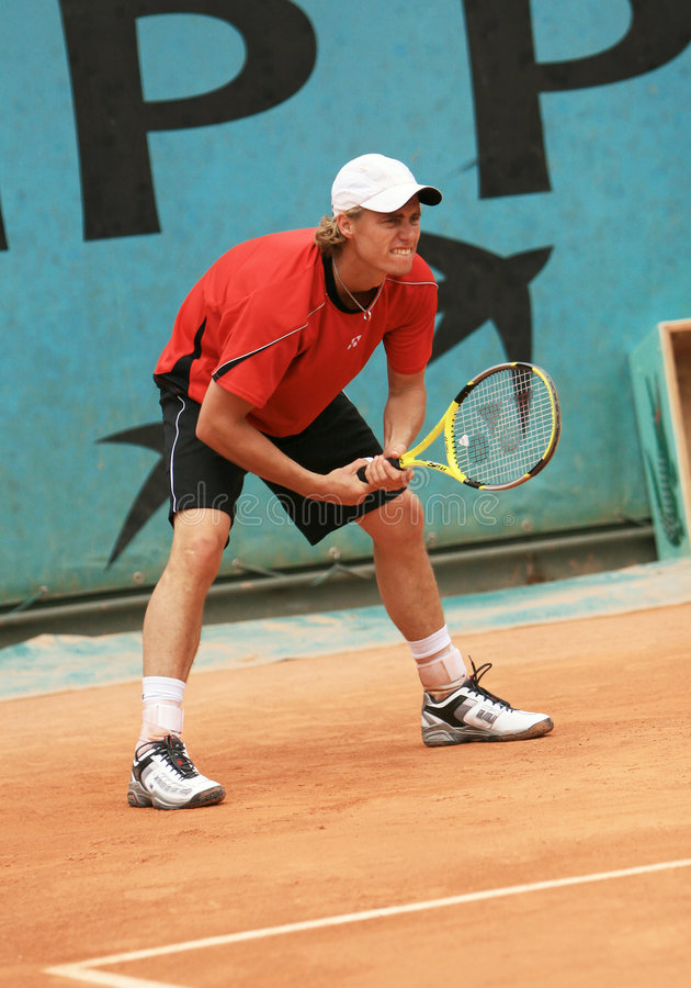 Lleyton Hewitt during his prac stock image