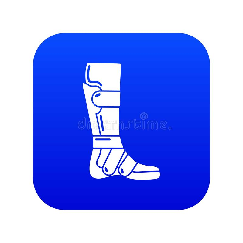 Leg in retainer icon, simple style. LLg in retainer icon. Simple illustration of leg in retainer vector icon for web stock illustration