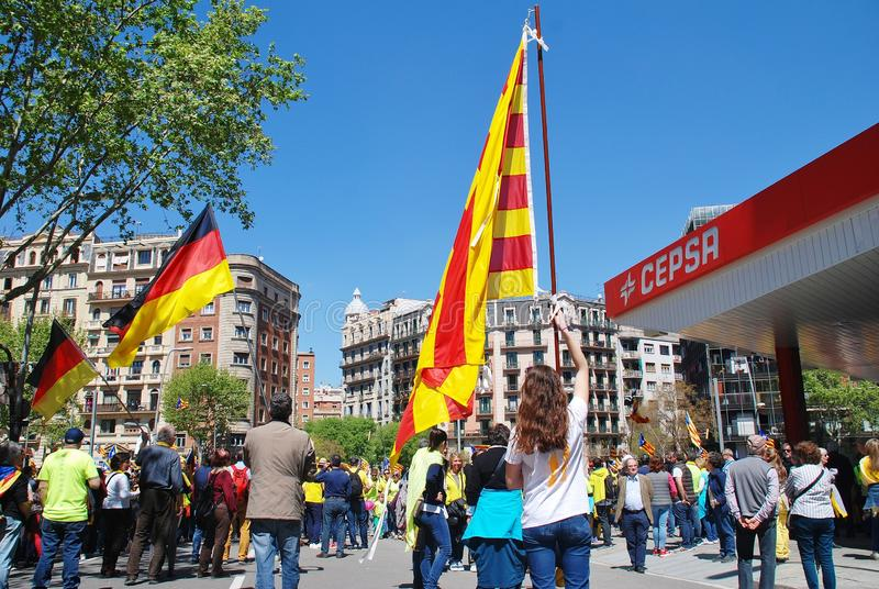 Llibertat Presos polityka marsz, Barcelona zdjęcie stock