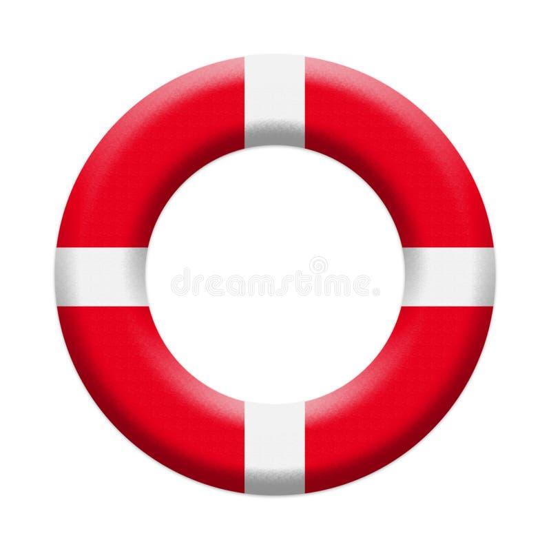 Llifebuoy, anneau gonflable de sécurité Matériel de sauvetage nautique de la vie d'isolement sur l'illustration blanche de fond images libres de droits