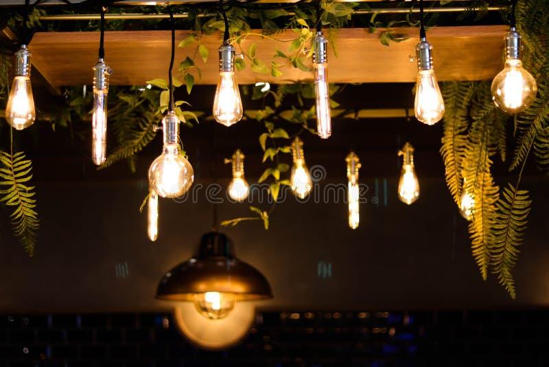 Llight bulbs - Image. Llight bulbs using in coffee shop, celebration Light bulbs, vintage Light bulbs - Image stock photo