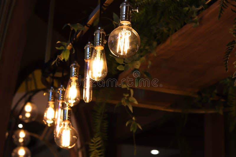 Llight bulbs - Image. Llight bulbs using in coffee shop, celebration Light bulbs, vintage Light bulbs - Image stock images
