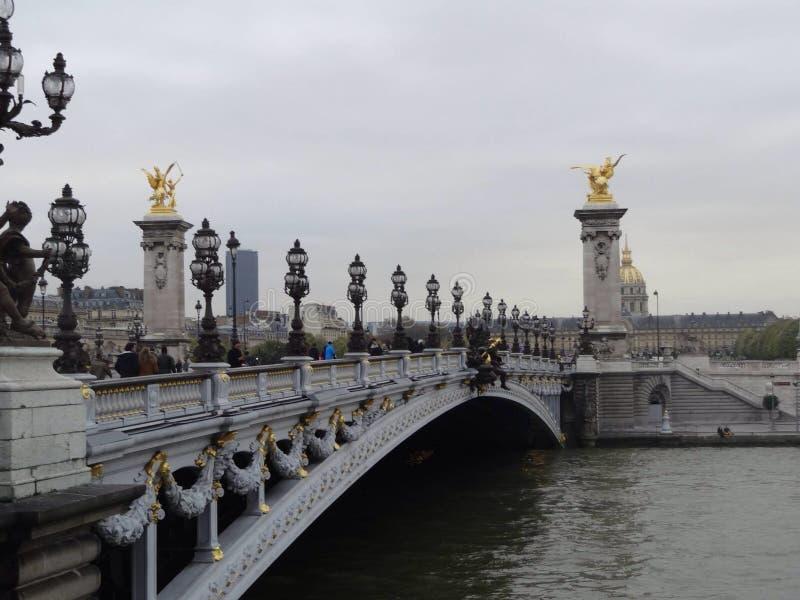 Lll di Alexandre del pont di Parigi immagini stock libere da diritti