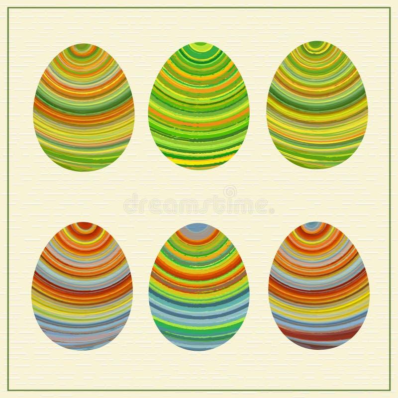 Lllustration van grappige gestreepte Oostelijke eieren vector illustratie
