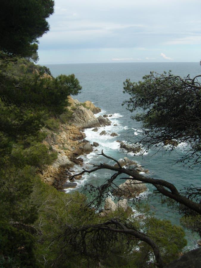 Lloret de mar, Коста Brava, Испания, Barselona стоковые изображения