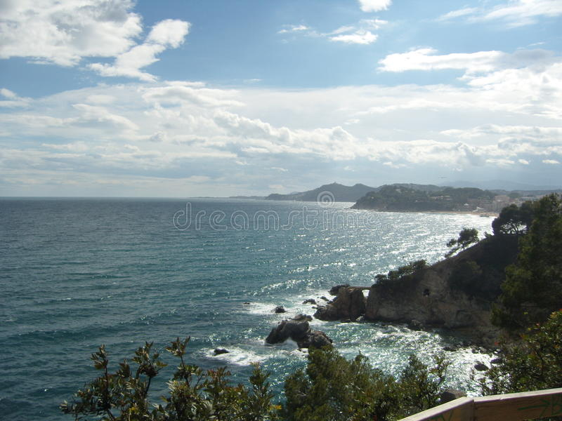 Lloret de mar, Коста Brava, Испания, Barselona стоковое фото rf