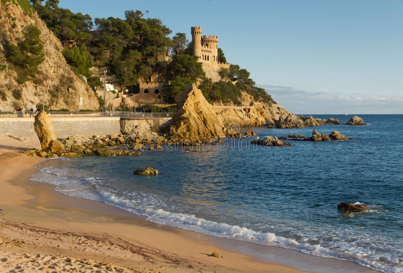 Lloret de Mar beach royalty free stock image