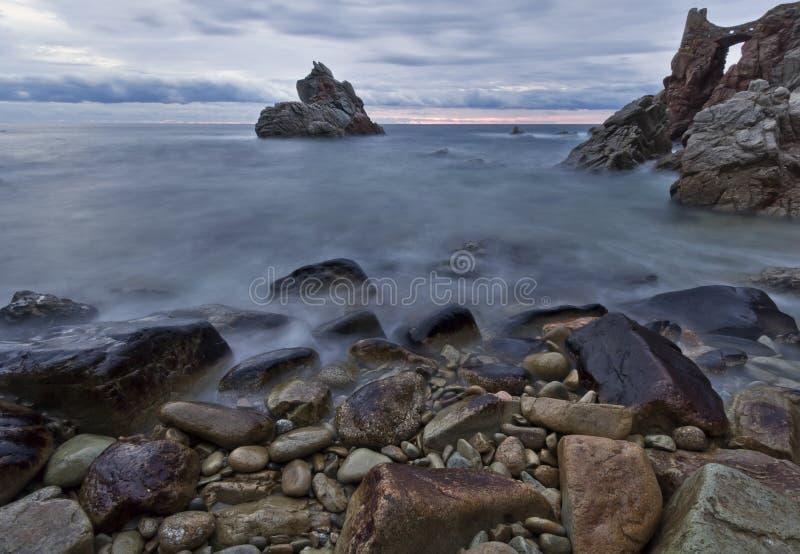 Lloret de Mar beach panoramic royalty free stock photography