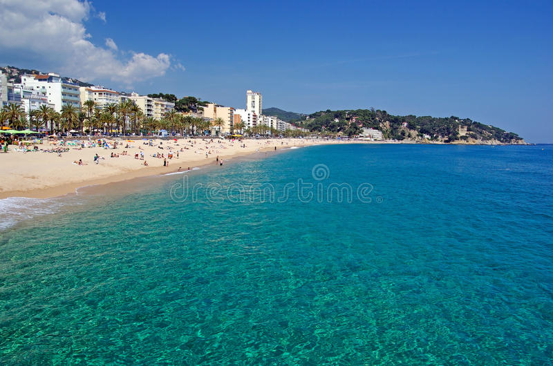 Download Lloret De Mar Costa Brava Spanish Tropical Sand Beach Catalonia Spain Mediterranean Sea Nature Summer Travel Background Journey Stock Photo - Image of holidays, lagoon: 9477254