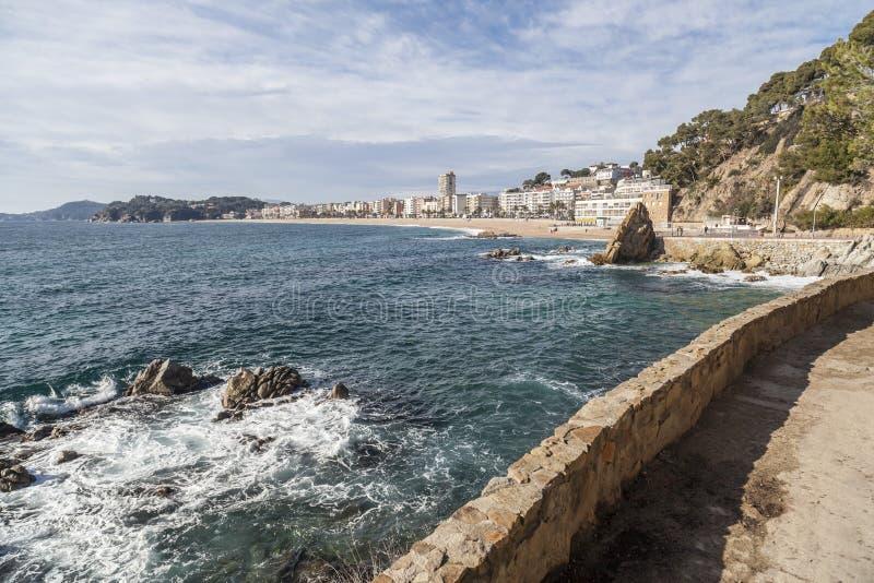 Lloret de Mar Catalonia, Spanien royaltyfri bild