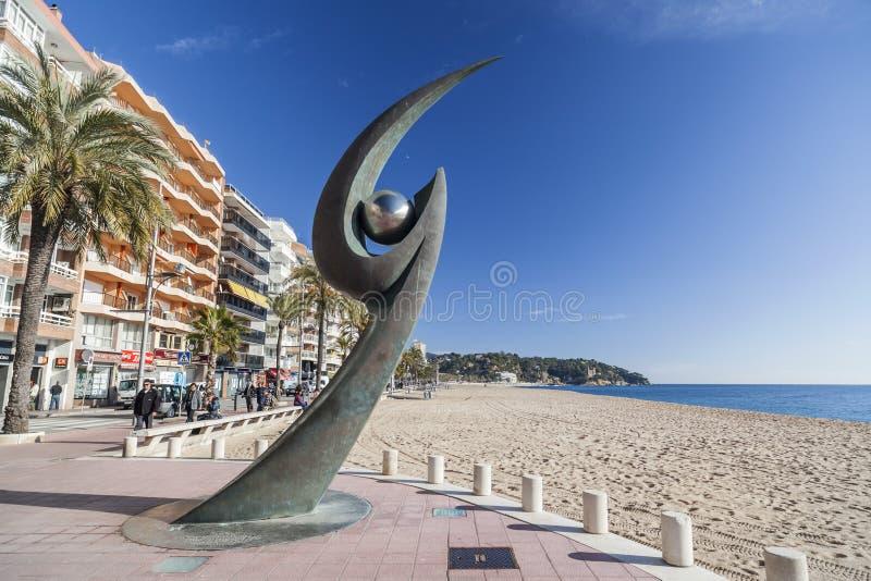 Lloret de Mar Catalonia, Spanien arkivfoto
