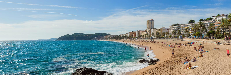 Lloret De Mar linia brzegowa obrazy royalty free