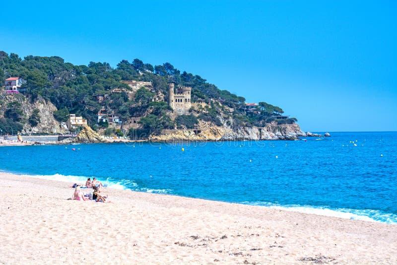 Lloret de Mar semesterort, Catalonia, Spanien arkivfoto
