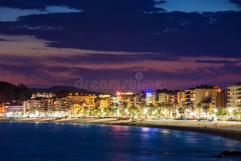 Lloret de Mar Skyline on Costa Brava in Spain royalty free stock image