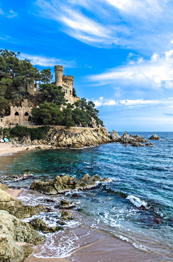 Download Lloret de Mar, Spain stock image. Image of beach, catalonia - 25272205