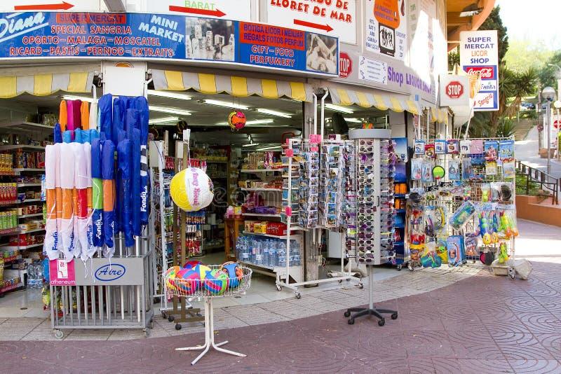 Loja em Lloret de Mar fotografia de stock royalty free