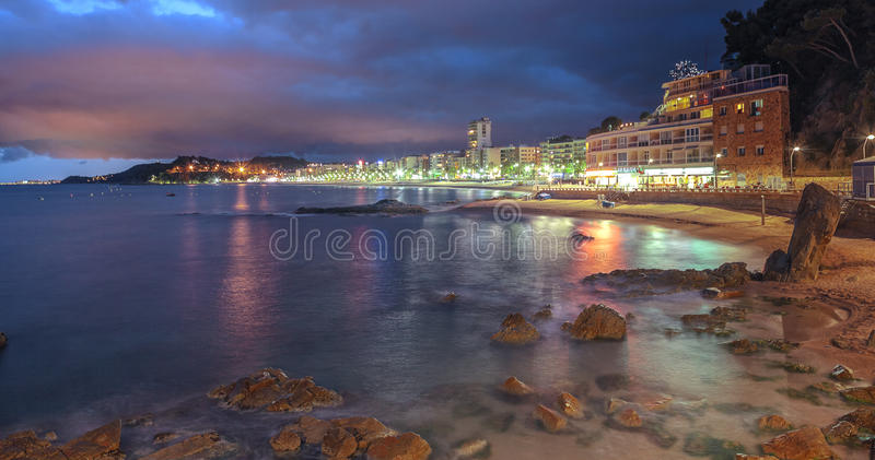 Lloret de mars, côte Brava, Espagne image stock