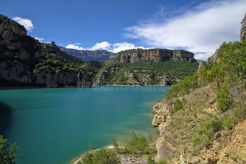 Llosa del Cavall Reservatório, província de Lleida, Espanha fotos de stock