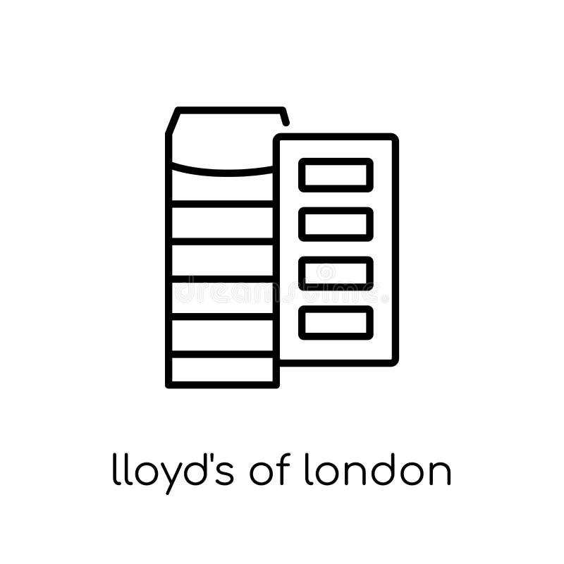 Lloyd del icono de Londres  stock de ilustración