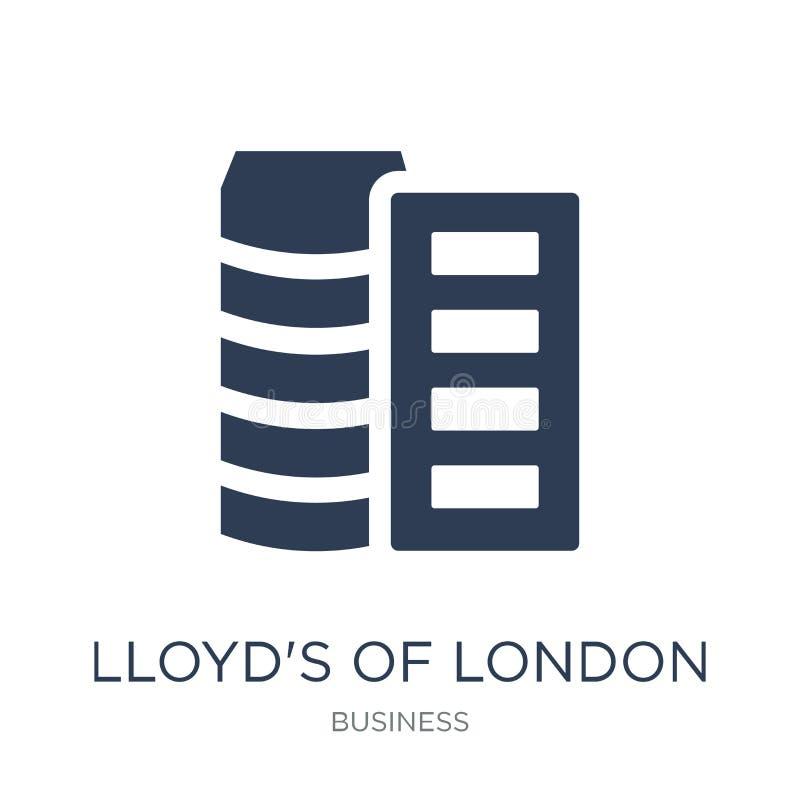 Lloyd van het pictogram van Londen In vlakke vectorlloyd's van ico van Londen royalty-vrije illustratie