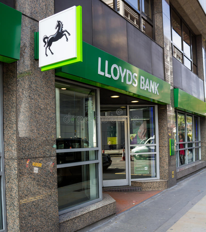 Lloyds bank sign stock photo